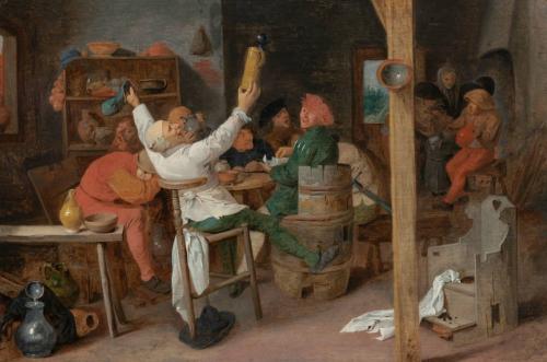 Peasants carousing
