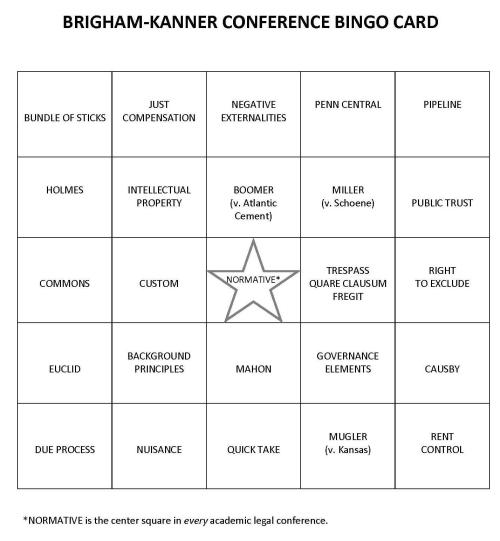 BK Bingo card