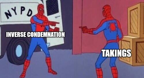 Inverse vs takings
