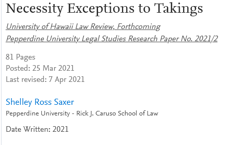 Screenshot_2021-04-12 Necessity Exceptions to Takings by Shelley Ross Saxer SSRN