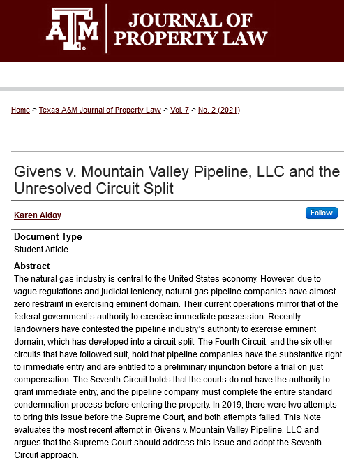 Screenshot 2021-07-26 at 09-25-52 Givens v Mountain Valley Pipeline  LLC and the Unresolved Circuit Split